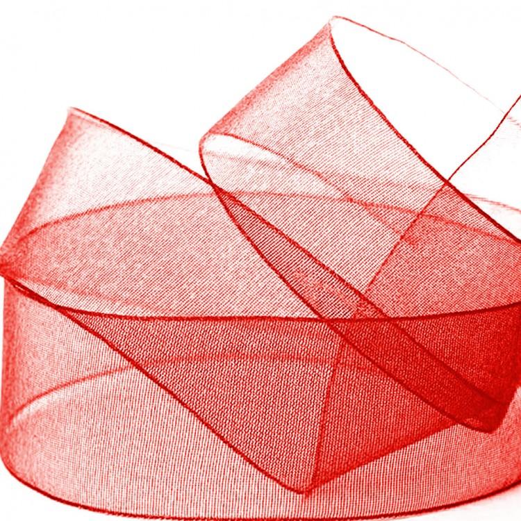 Ruban organdi rouge