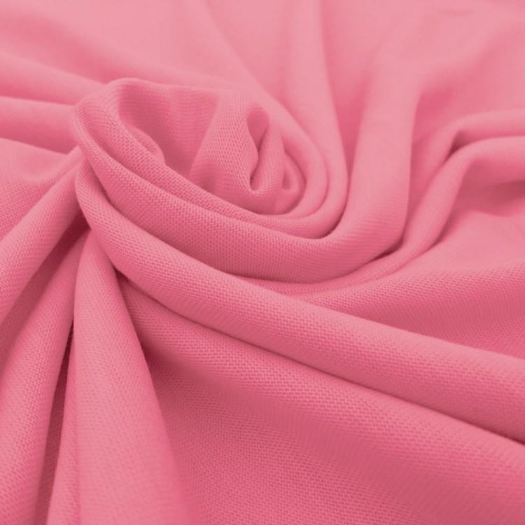 Jersey tencel rose au mètre