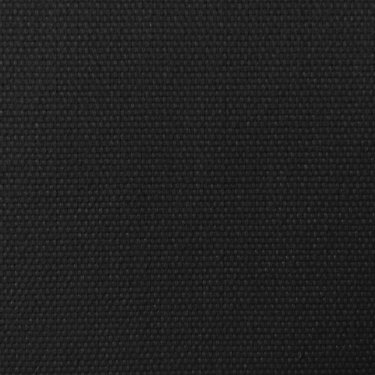 Toile de coton natté noire au mètre