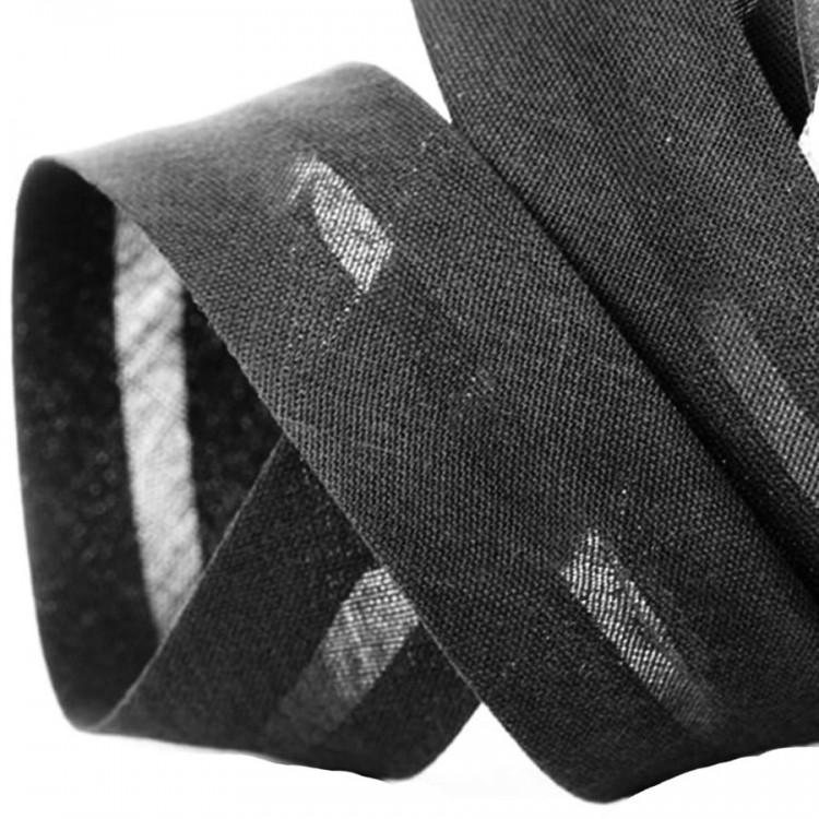 Biais polycoton 40 mm noir