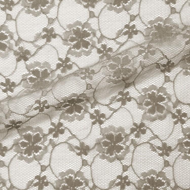 Dentelle flower taupe