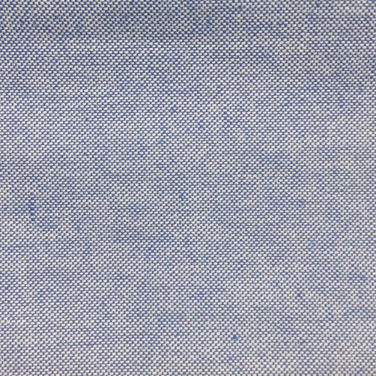 Toile de coton chiné bleu