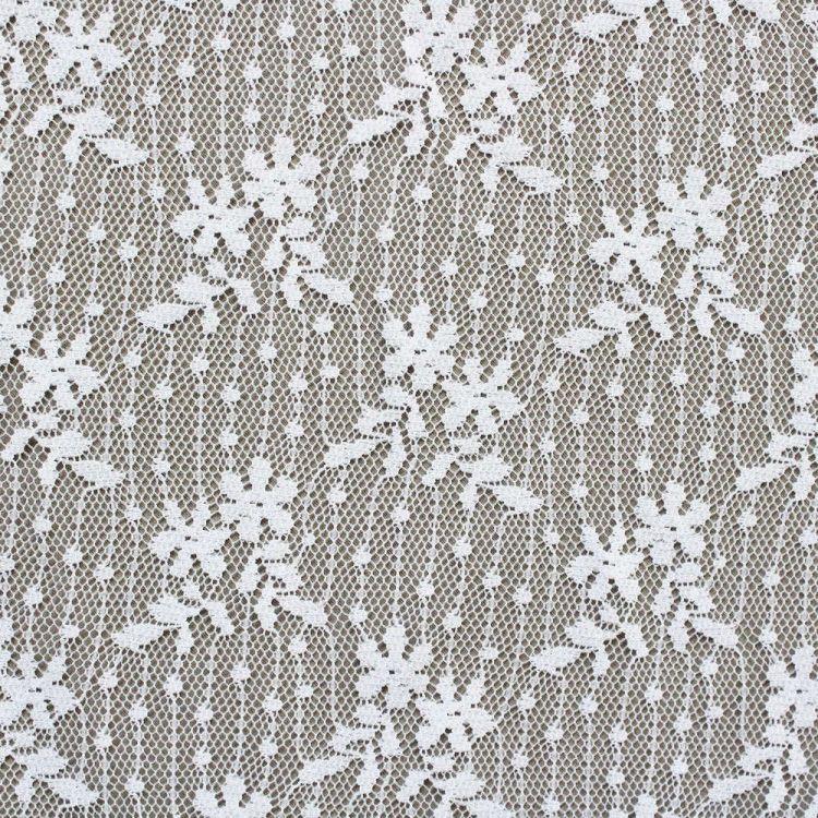 dentelle ligne fleurs-blanc optique