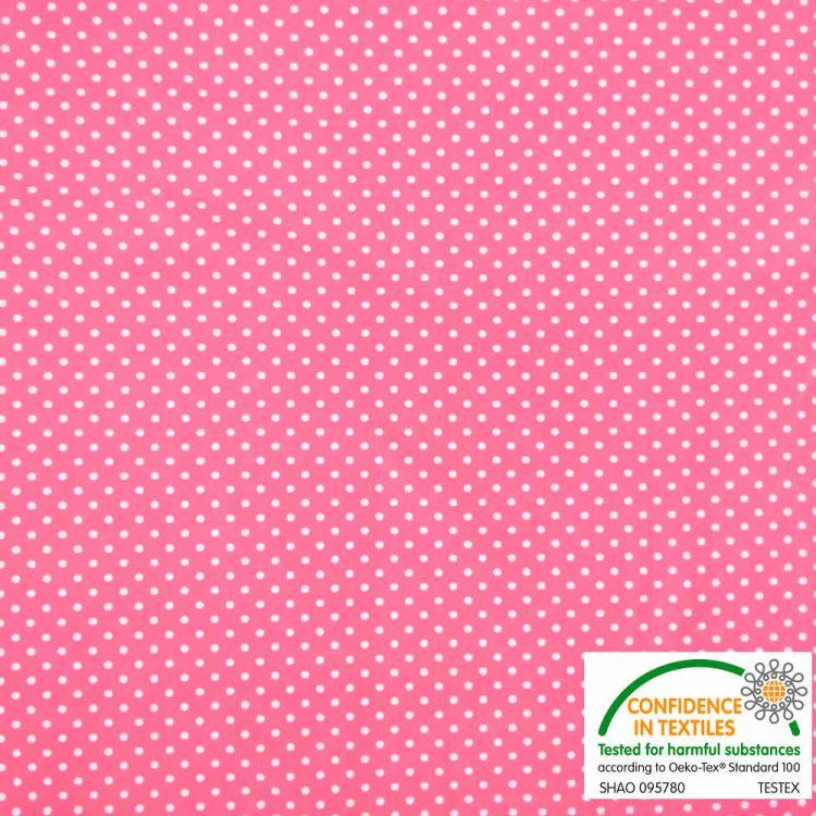 Lycra moles fundo flúor rosa