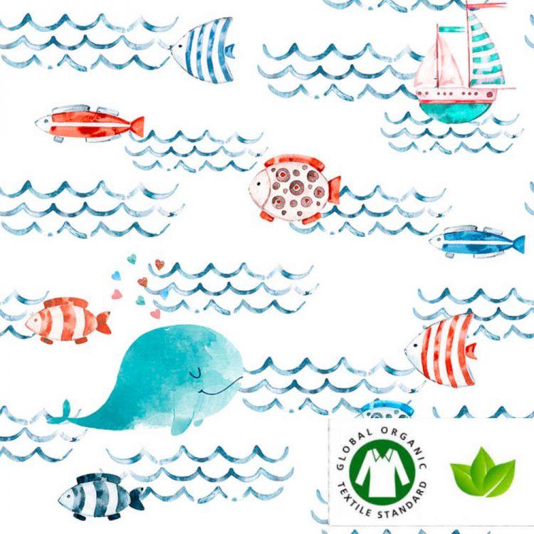 Algodão orgânico Mar