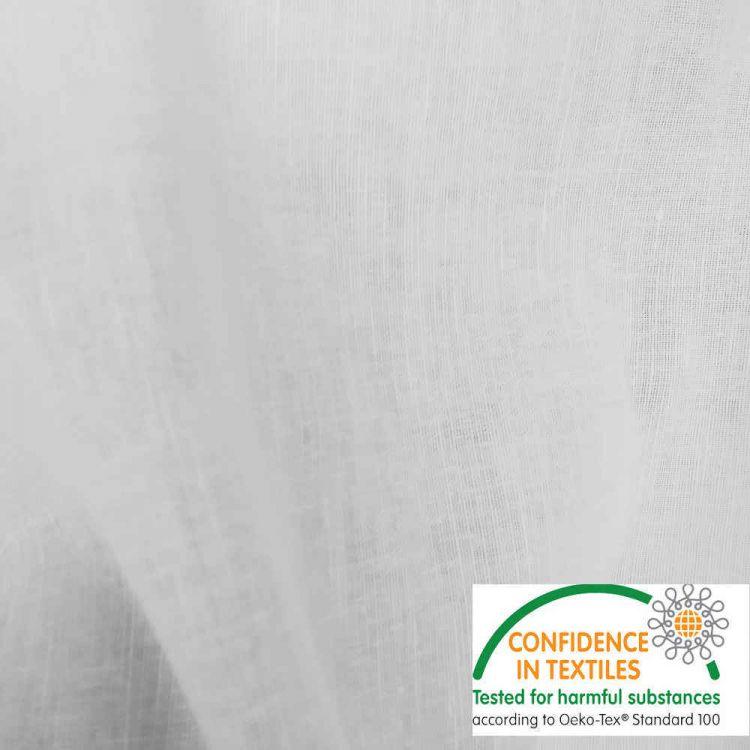 Tecido linho/algodão branco